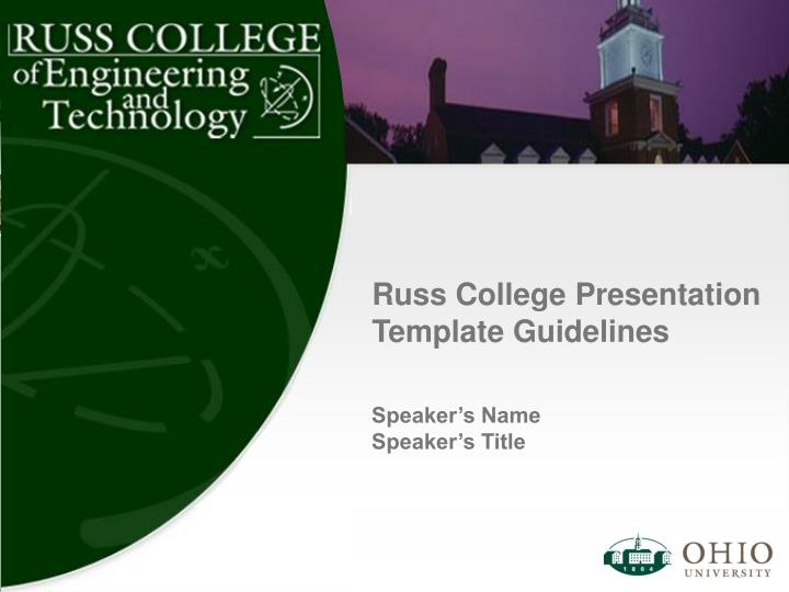 russ college presentation template guidelines n.