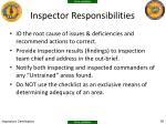 inspector responsibilities1