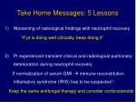 take home messages 5 lessons