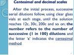 centesimal and decimal scales