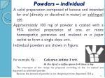 powders individual1