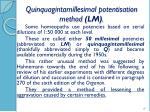 quinquagintamillesimal potentisation method lm