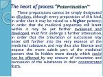 the heart of process potentisation