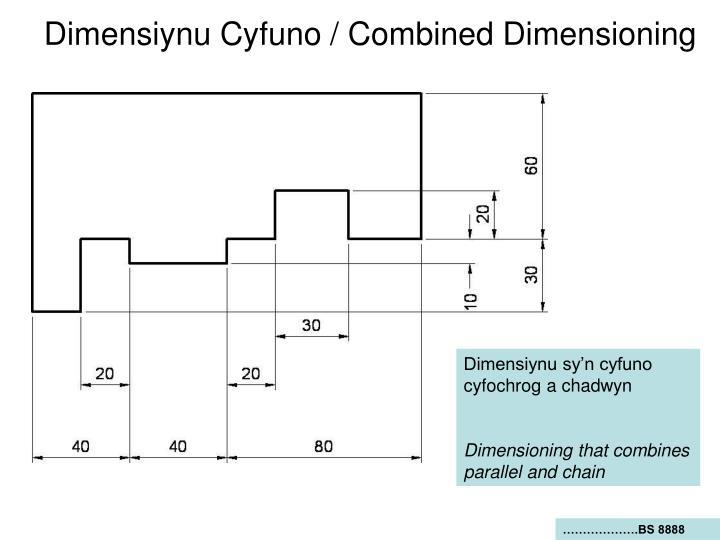 Dimensiynu Cyfuno / Combined Dimensioning