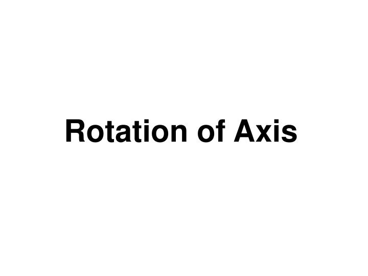 rotation of axis n.
