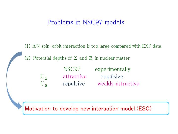 Problems in NSC97 models