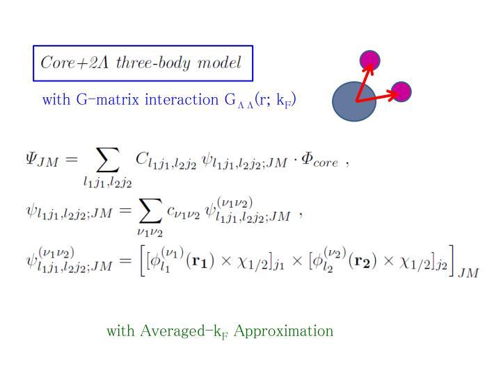 with G-matrix interaction G