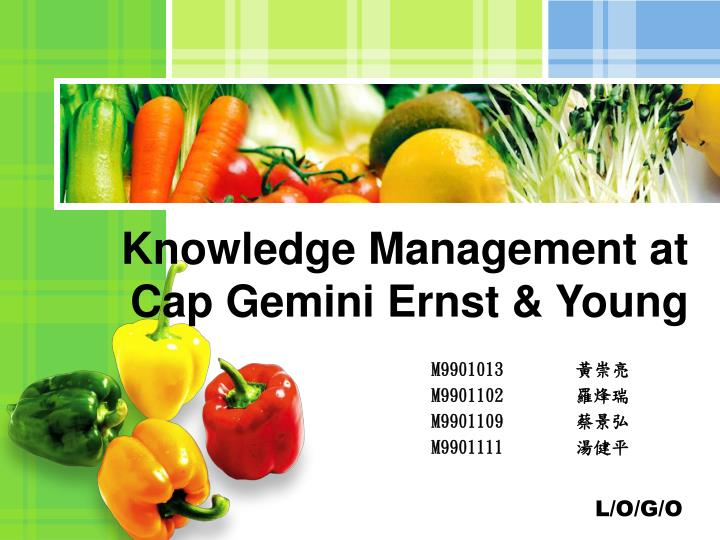 knowledge management at cap gemini ernst young n.