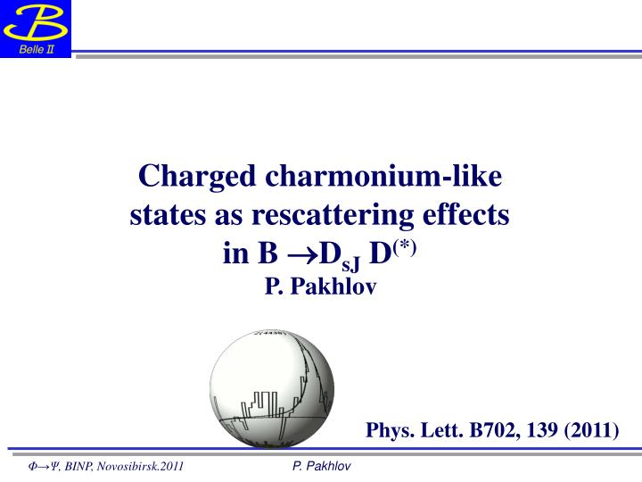 Charged charmonium like states as rescattering effects in b d sj d