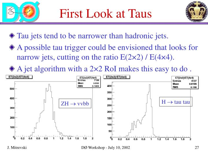 First Look at Taus