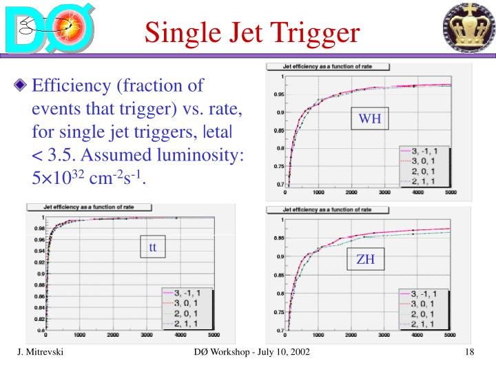 Single Jet Trigger