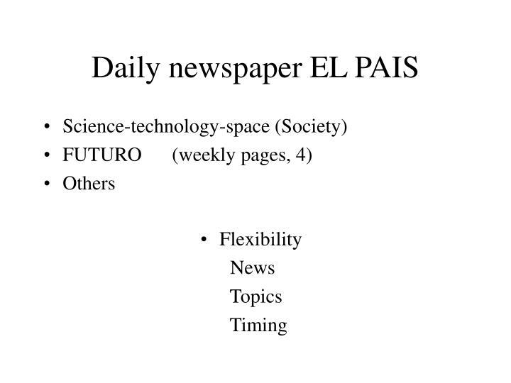 Daily newspaper el pais