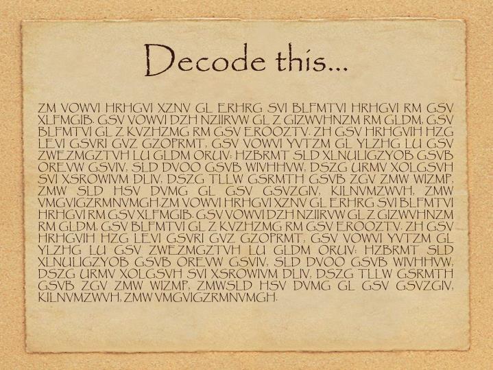 Decode this