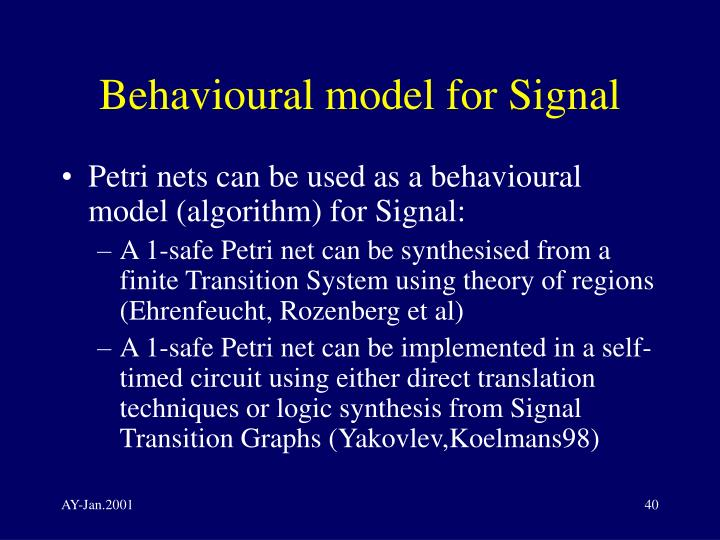 Behavioural model for Signal