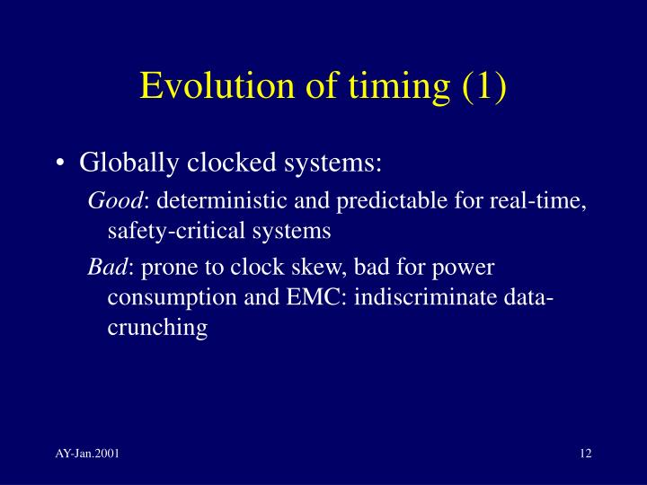 Evolution of timing (1)