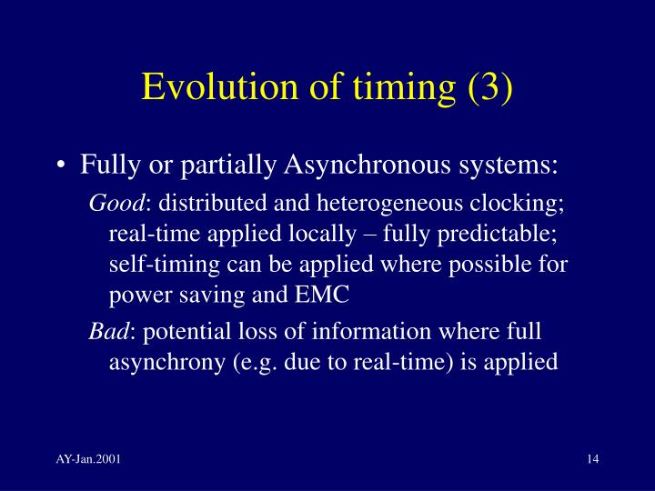 Evolution of timing (3)