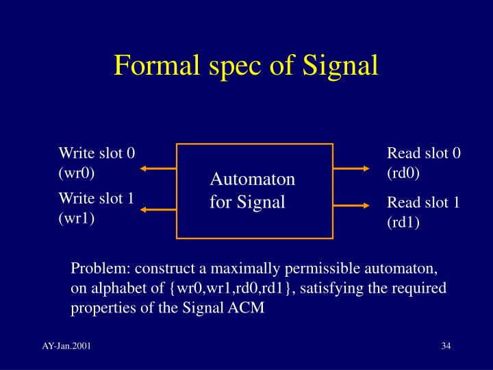 Formal spec of Signal