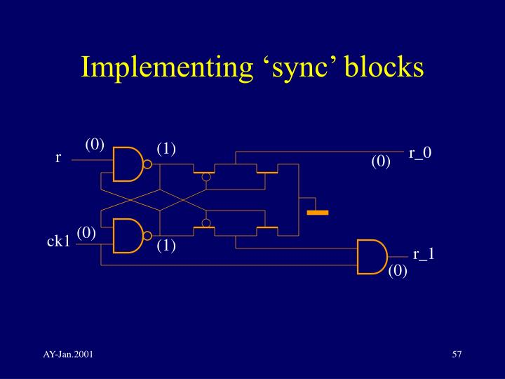 Implementing 'sync' blocks