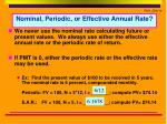 nominal periodic or effective annual rate