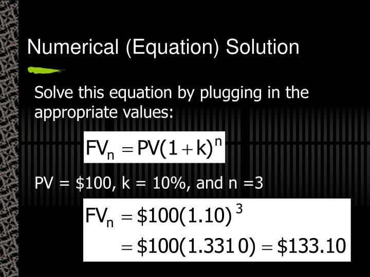 Numerical (Equation) Solution