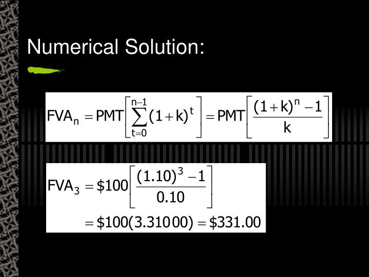 Numerical Solution:
