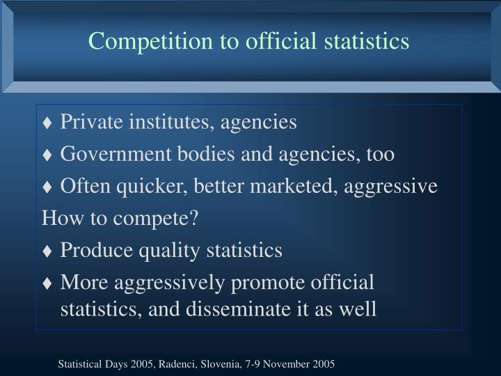 Competition to official statistics