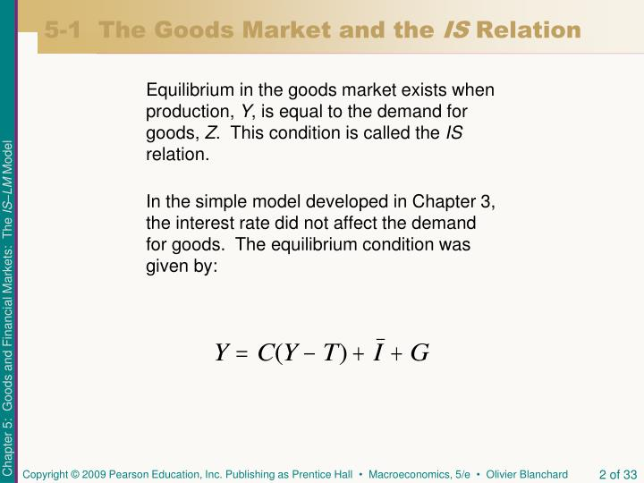 5 1 the goods market and the is relation