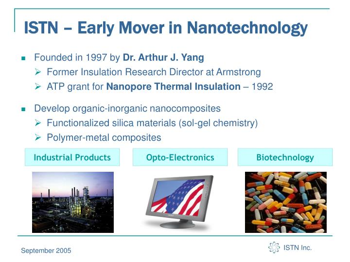 Istn early mover in nanotechnology
