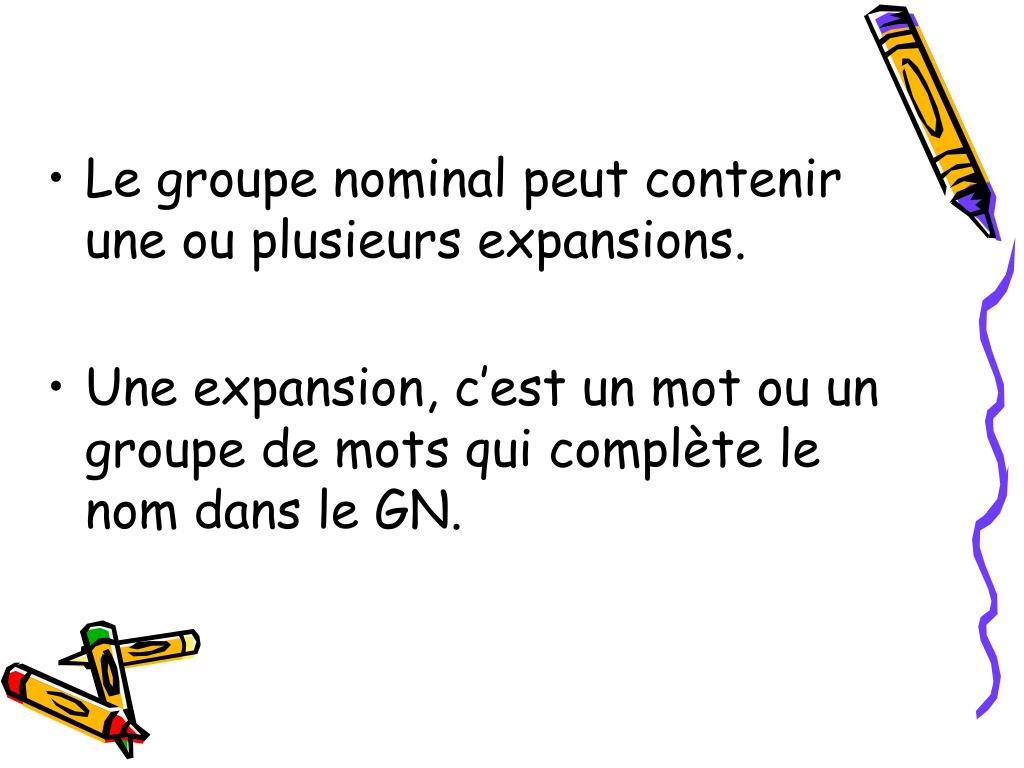 PPT - date Le groupe nominal PowerPoint Presentation, free ...