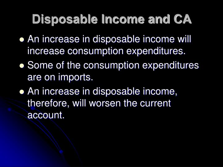 Disposable Income and CA