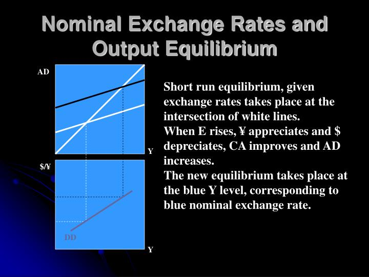 Nominal Exchange Rates and Output Equilibrium