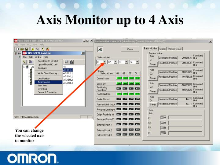 Axis Monitor up to 4 Axis