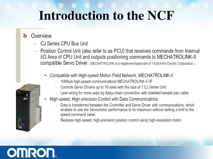 Introduction to the ncf