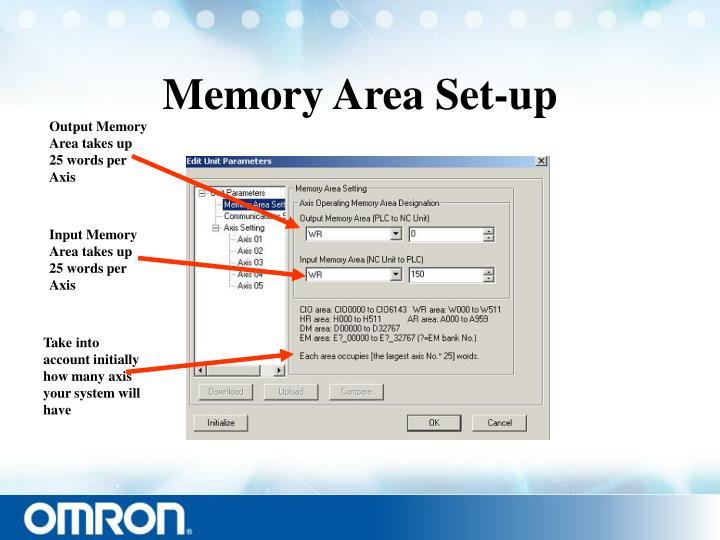 Memory Area Set-up