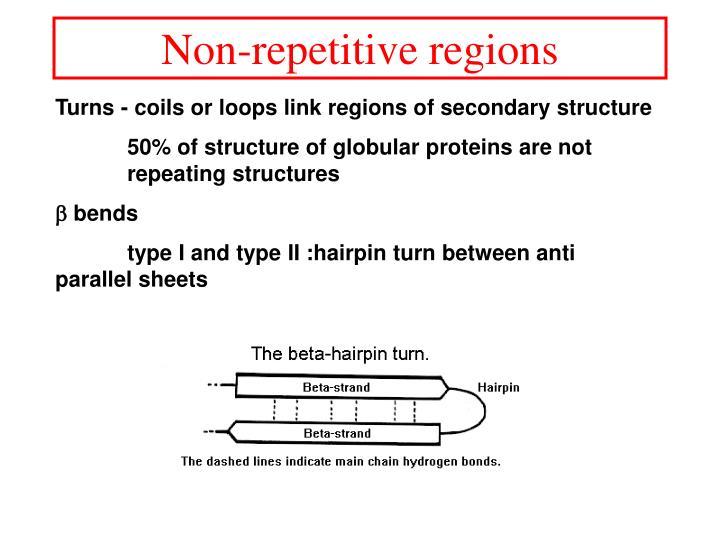 Non-repetitive regions