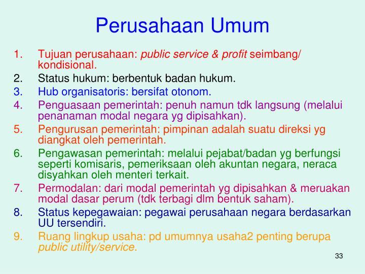 Perusahaan Umum