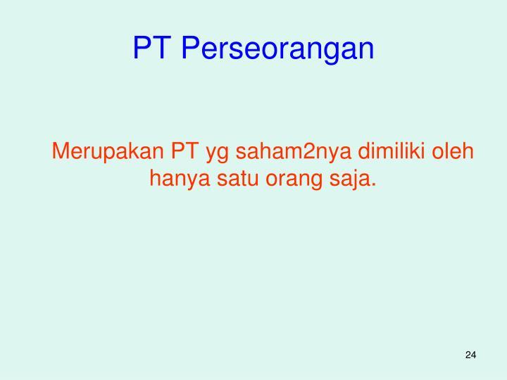 PT Perseorangan