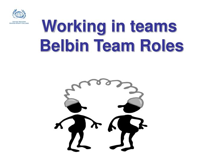 working in teams belbin team roles n.