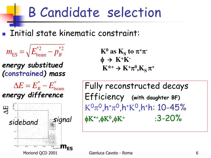 B Candidate  selection