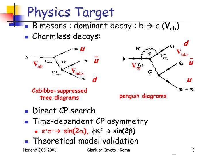 Physics target