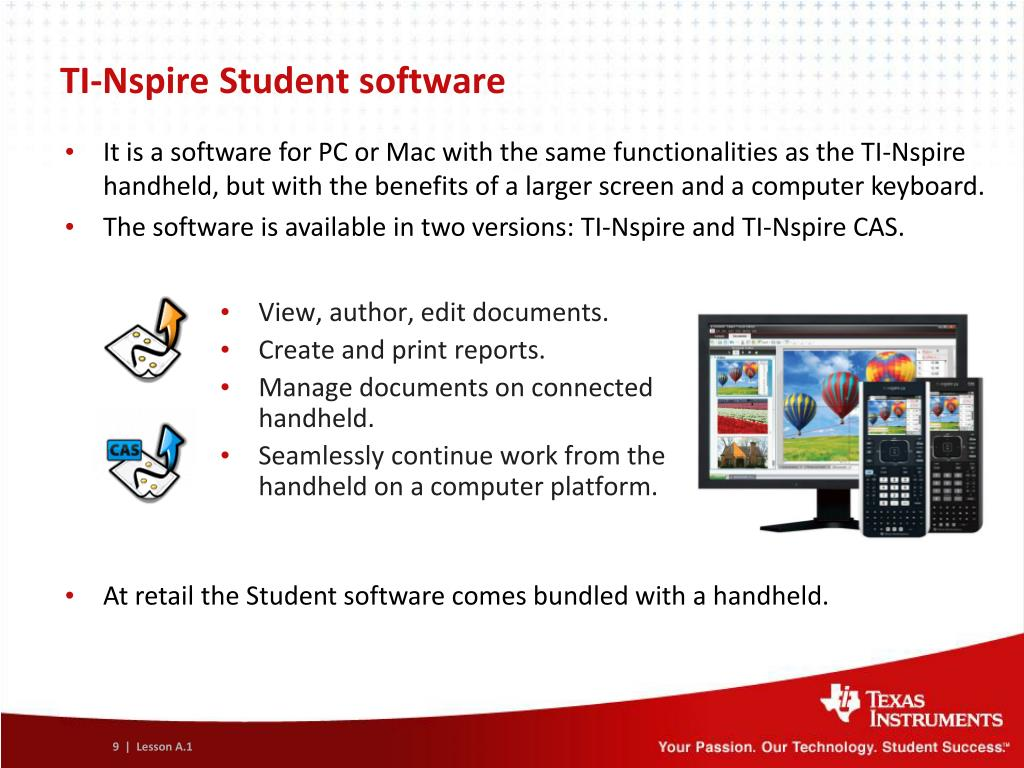 PPT - Concepts and value of TI-Nspire ™ Technology