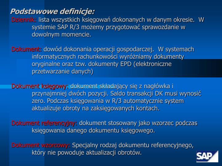Podstawowe definicje: