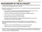 background of the dz project