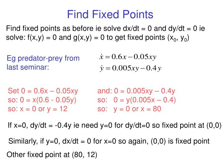 Find Fixed Points