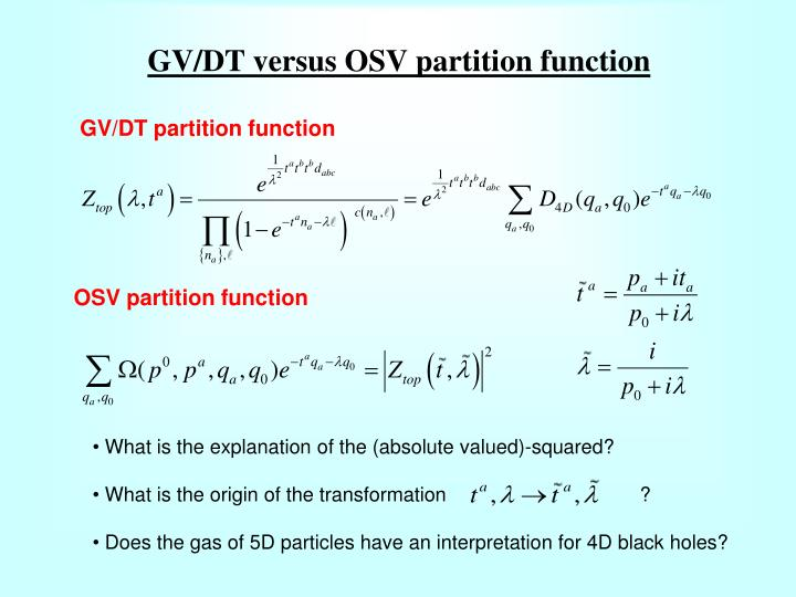 OSV partition function