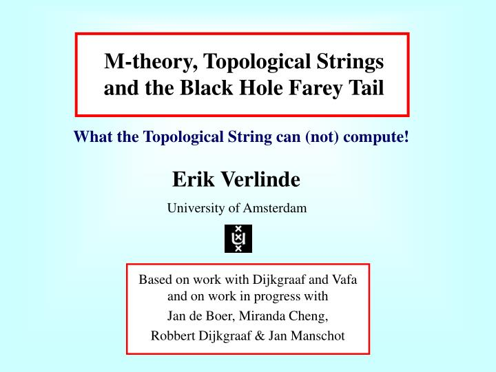 M theory topological strings and the black hole farey tail