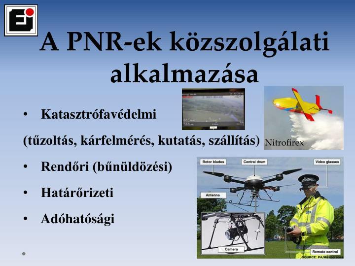 A PNR-ek közszolgálati alkalmazása