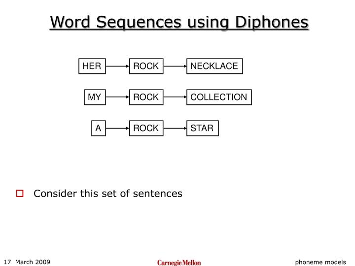 Word Sequences using Diphones