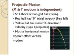 projectile motion x y motion is independent