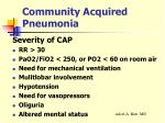 community acquired pneumonia18